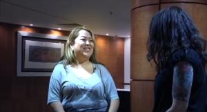 Chong Kim Eden interview in booth