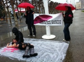 Protest as part of the International Day to End Violence Against Sex Workers Image by Flickr user Steve Rhodes