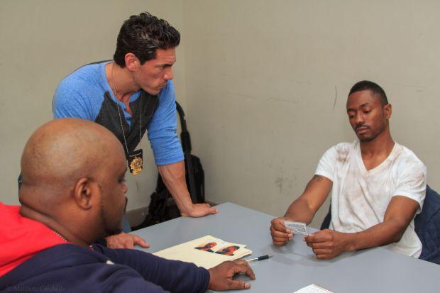 African American cop - James Sampson White cop - Sean Morales Pimp - Jonathan Swain