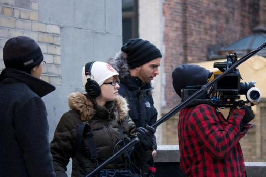 Day 3 of filming for Love and the Small Print: rooftop shooting